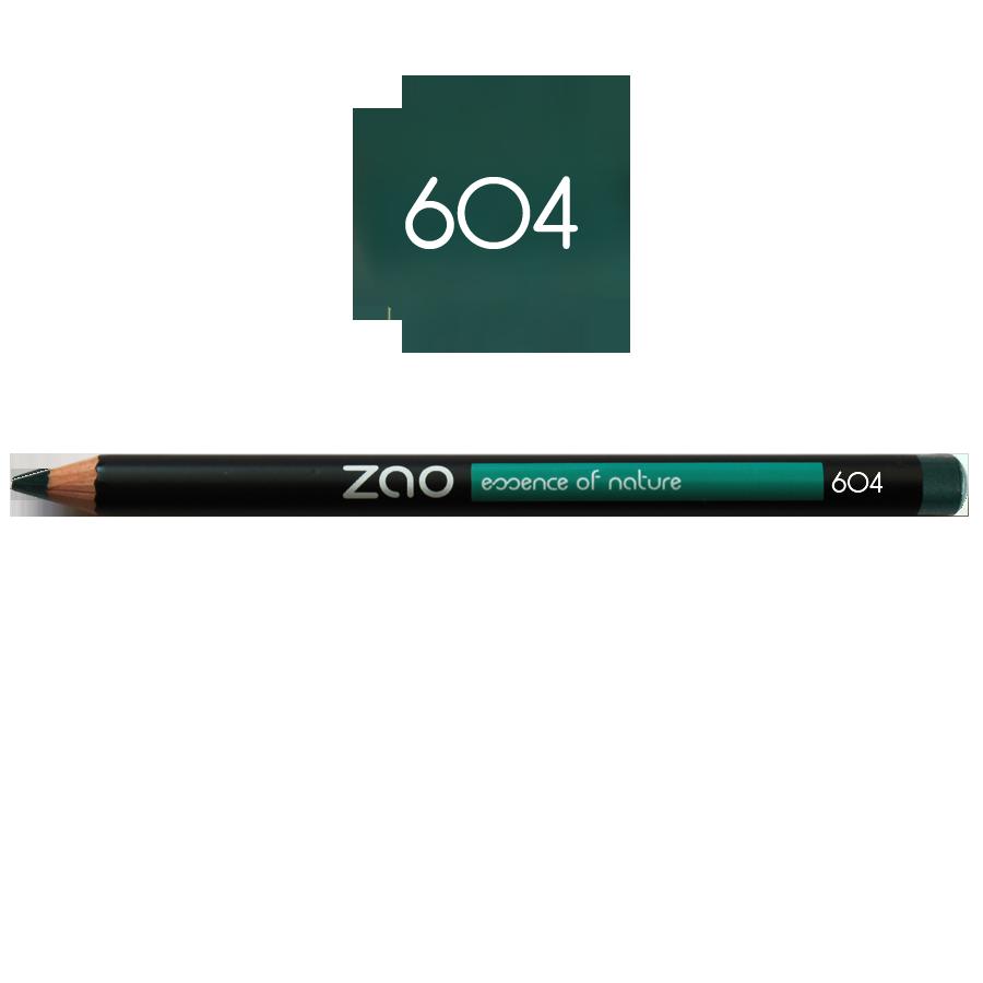 Zao Lápiz de ojos ecológico verde – 604