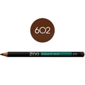 Lápiz de ojos ecológico Zao marrón - 602
