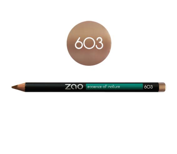 Lápiz de ojos delineador Zao Beige Nude 603 ecológico