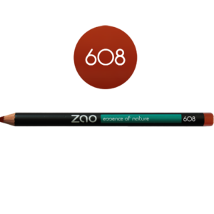 Lápiz de ojos Zao Marrón naranja (rojo) - 608