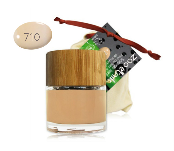 Zao Base de maquillaje ecológico Melocotón Claro 710
