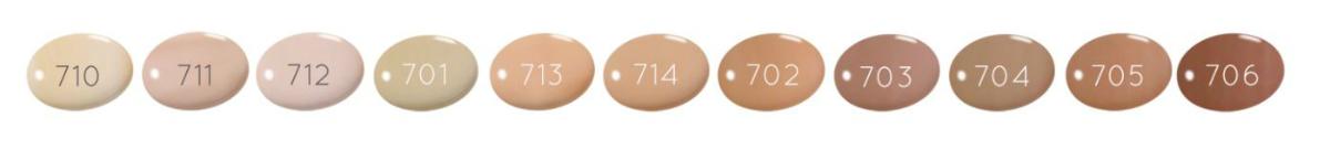 Colores de las bases de maquillaje Zao