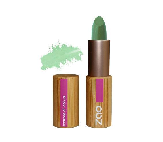 Corrector Zao MakeUp color verde para acné